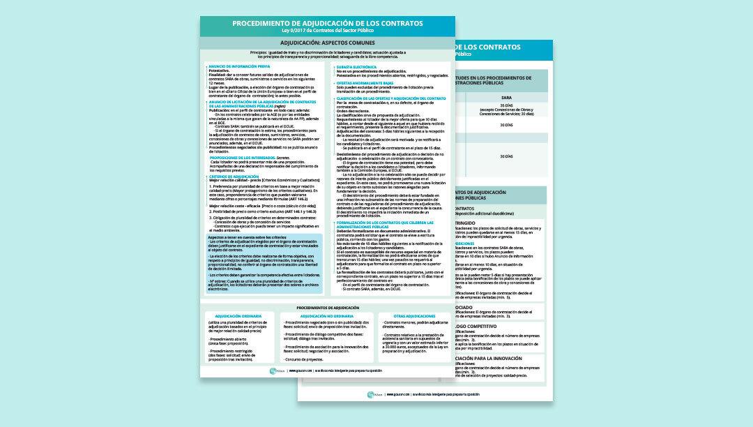 Estudia a fondo los procedimientos de adjudicación de los contratos en la LCSP